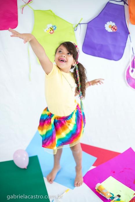 Ensaio Estúdio, Pintando o Sete, Nathália 7 anos, Gabriela Castro Fotografias